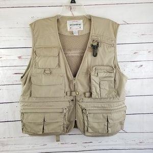 Field & Stream Fishing Vest Khaki Mesh Size Large